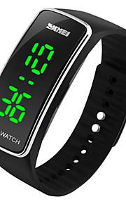 SKMEI 남성용 손목 시계 디지털 실리콘 블랙 / 블루 / 레드 달력 디지털 참 - 블루 블랙 실버 / 블랙 2 년 배터리 수명 / Maxell626 + 2025