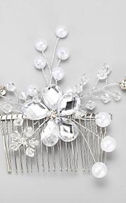 Kristal Imitatieparel Legering Hiusten kaltaiset 1 Bruiloft Speciale gelegenheden  Helm