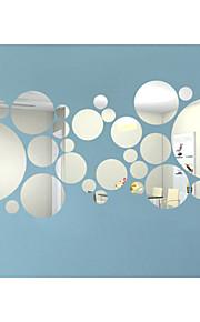 3D Stickers muraux Miroirs Muraux Autocollants Autocollants muraux décoratifs, Vinyle Décoration d'intérieur Calque Mural Mur