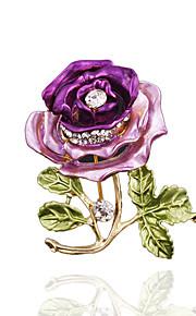 Dame Brocher Lilla Kaffe Rød og Lyserød Blå/Grøn Blå og Navy Stilfuld Mode Smykker Bryllup Hverdag Kostume smykker