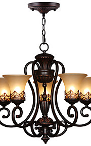Ecolight™ 5-Light Chandelier Ambient Light - Candle Style, 110-120V / 220-240V Bulb Not Included / 10-15㎡ / E26 / E27