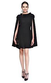 Linea-A Con decorazione gioiello Corto / mini Chiffon Cocktail / Rimpatriata di classe / Graduazione Vestito con A pieghe di TS Couture®