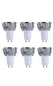 5W 3000/6500lm GU10 LED-spotlys 4 LED Perler COB Dæmpbar Varm hvid Hvid 110-130V 220-240V