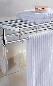 욕실 선반 우아한 스테인레스 1개 - 호텔 목욕 더블
