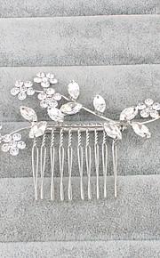 Štras Vlasy Hřebeny Doplňky do vlasů with Květiny 1ks Svatební Zvláštní příležitosti Přílba