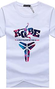 Hombre Deportes Tallas Grandes Estampado - Algodón Camiseta, Escote Redondo Gris XXXL / Manga Corta / Verano