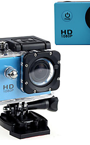 "Action Kamera / Sportskamera 16MP 1280 x 720 1920 x 1080 640 x 480 USB Justerbar G-Sensor Vandtæt LED Alt i en Vidvinkel 60fps Nej 2"" CMOS"