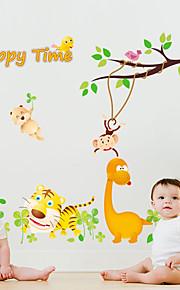 Dyr Mode Tegneserie Vægklistermærker Fly vægklistermærker Dekorative Mur Klistermærker, Papir Hjem Dekoration Vægoverføringsbillede Væg