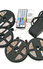 ZDM® 4x5M Lyssæt 1200 lysdioder 1 12V 6A adapter 1 44Køler fjernbetjening 1x 1 til 4 kabelstik 1 vekselstrøms kabel RGB Chippable Vandtæt
