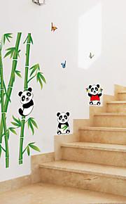 Dyr Tegneserie Botanisk Vægklistermærker Fly vægklistermærker Dekorative Mur Klistermærker, Papir Hjem Dekoration Vægoverføringsbillede