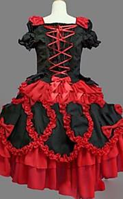 2bc014c2b3 Hercegnő Gótikus Lolita Édes Lolita Női Lány Ruhák Cosplay Piros Báli ruha  Csapott Rövid ujjú Rövid