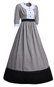 Vévodkyně Downton Abbey Viktoria Tarzı Středověké Kostým Dámské Šaty Kostým  na Večírek Maškarní Světle šedá Retro b404f15d8e