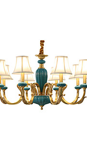 8 lumières Bougie Lustre Lumière dirigée vers le haut - Style mini, Designers, 110-120V / 220-240V Ampoule non incluse / 10-15㎡