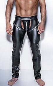 Hombre Erótico Calzoncillos largos Un Color Ahuecado Media cintura