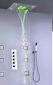 샤워 수도꼭지 - 현대 / 주도 크롬 샤워 시스템 세라믹 밸브 / 황동 욕조 샤워 믹서 도청