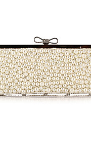 Women's Bags Polyester Evening Bag Crystal Detailing Pearl Detailing for Wedding Event/Party All Seasons Champagne Black Beige Almond