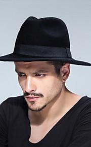 男女兼用 純色 ヴィンテージ風 ソリッド フェドーラ帽