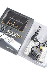 2pcs H1 H4 Bil Elpærer W Integreret LED 4000lm lm Hovedlygte