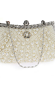 Women's Bags PVC Evening Bag Pearl Detailing for Wedding Event/Party All Seasons Champagne Black Beige