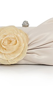 Women's Bags Silk Clutch Appliques for Wedding Event/Party All Seasons Beige