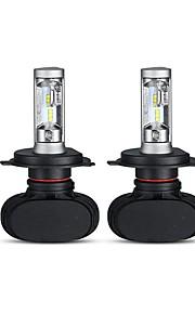 2pcs Elpærer 50W W Høj præstations-LED lm 4 Hovedlygte ForUniversel Alle Modeller Alle år