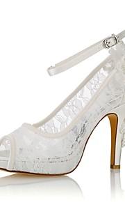 dámské boty prošité satén letní základní čerpací svatební boty stiletto  paty peep toe perleťová slonovina   e466f145d9