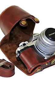 11fddac1dee 55 dengpin® pu δέρμα κάμερα τσάντα υπόθεση κάλυψη με ιμάντα ώμου για  Olympus E-M10