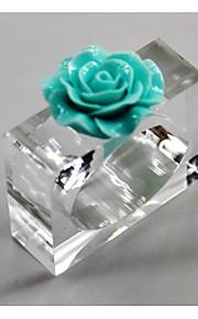 Европейский стиль пластик Квадратный Кольца для салфеток Настольные украшения