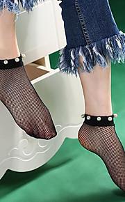 1 Pair Women's Socks Standard Solid Colored Leg Shaping Sexy Polyester EU36-EU42