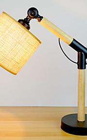 Artístico Ajustable Lámpara de Mesa Para Madera / Bambú 220-240V Negro