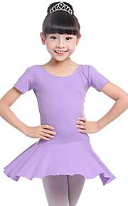 Ballet Vestidos Chica Entrenamiento Rendimiento Algodón Fruncido Manga Larga Cintura Media Vestido