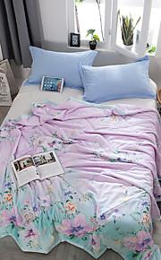 Komfortabel 1stk Sengetæppe 1stk dyne, Håndlavet Reaktivt Print Blomstret Sommer