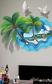 Adesivi decorativi da parete - Adesivi aereo da parete Paesaggi 3D Salotto Camera da letto Bagno Cucina Sala da pranzo Sala studio /