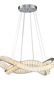 ZHISHU Chandelier Ambient Light - Crystal Multi-shade Mini Style, Nature Inspired Chic & Modern, 220-240V, Warm White+White, Bulb Included