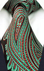 Herrn Party Büro Hals-Binder Einfarbig Paisley-Muster Jacquard