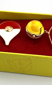 Больше аксессуаров Вдохновлен Pocket Little Monster Ash Ketchum Аниме Косплэй аксессуары 1 ожерелье 1 брошь Хром Искуственные драгоценные