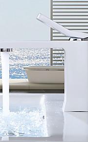 욕실 싱크 수도꼭지 - 와이드 스프레드 크롬 페인팅 주방, 욕조수전(Centerset) 싱글 핸들 하나의 구멍