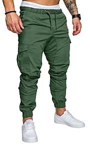 Hombre Básico Tallas Grandes Pantalones de Deporte / Pantalones tipo cargo Pantalones - Un Color Azul Marino / Primavera / Otoño
