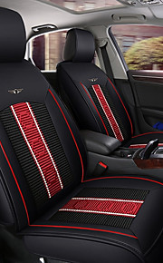 ODEER Car Seat Cushions Seat Covers Black Textile / PU Leather Common for universal All years All Models