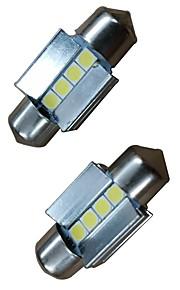 2pcs 31mm Bil Elpærer 4W 400lm 4 LED Indvendige Lights For Audi / Honda / Hyundai ML400 / GLE320 / GLA220 2018 / 2017 / 2016