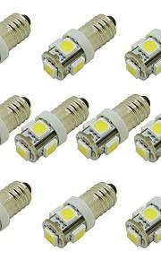10pcs E10 Bil Elpærer 2W SMD 5050 85lm 5 LED Indvendige Lights For Universel / General Motors General Motors Universal