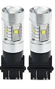 SENCART 3157 Bil / Motercykel Elpærer 30W SMD LED 1800-2100lm 6 LED Blinklys For Universel Alle år