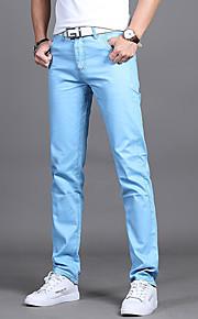 Erkek İnce Takım Elbise Pantolon - Solid Açık Mavi