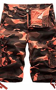 Муж. Армия Шорты / Брюки-карго Брюки - камуфляж Красный / Пляж