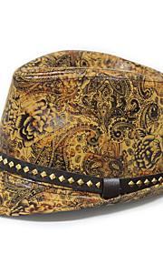 Муж. Винтаж Широкополая шляпа С принтом