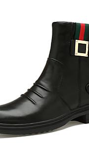 Miesten Muodolliset kengät Nappanahka Syystalvi Vapaa-aika / Englantilainen Bootsit Pidä lämpimänä Säärisaappaat Musta