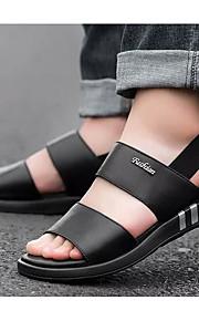 Miesten Comfort-kengät Nappanahka Kesä Sandaalit Musta