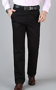 男性用 ストリートファッション チノパン パンツ - ソリッド ブラック / ワーク