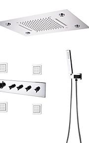 샤워 수전 - 콘템포라리 크롬 샤워 시스템 도자기 발브 Bath Shower Mixer Taps / 황동