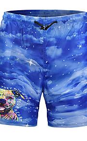 男性用 ベーシック ブルー サーフショーツ ボトムス スイムウェア - 動物 プリント L XL XXL ブルー